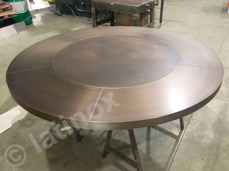 Tavoli e Basi in ottone