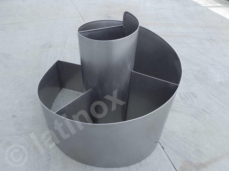 Fioriera in acciaio inox AISI 304